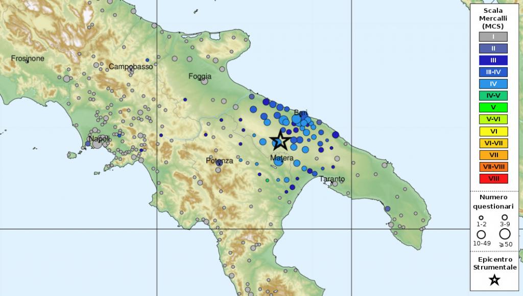 Mappa Puglia E Basilicata.Terremoti In Puglia E Basilicata Frequenza Ed Effetti